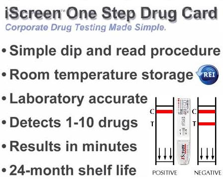 iscreen one step dip test features benefits
